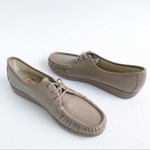 SAS 11 Slim Shoes Mocha Siesta Comfort Moccasin